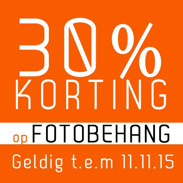 30% KORTING op Fotobehang