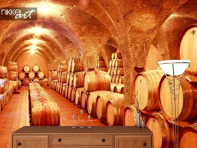 Fotobehang wijnkelder
