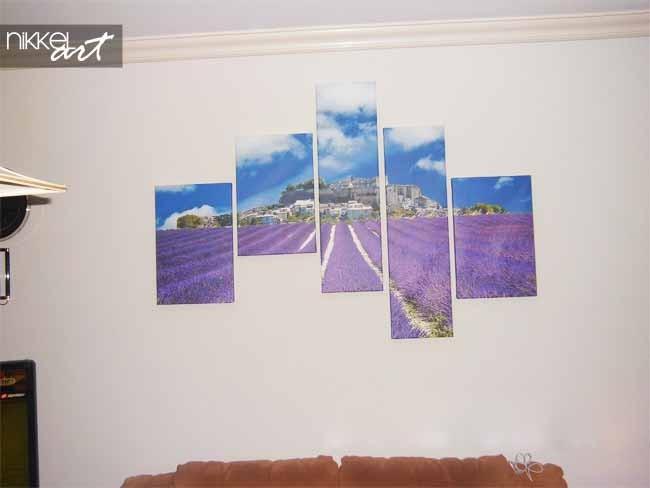 Foto van lavendel op canvas